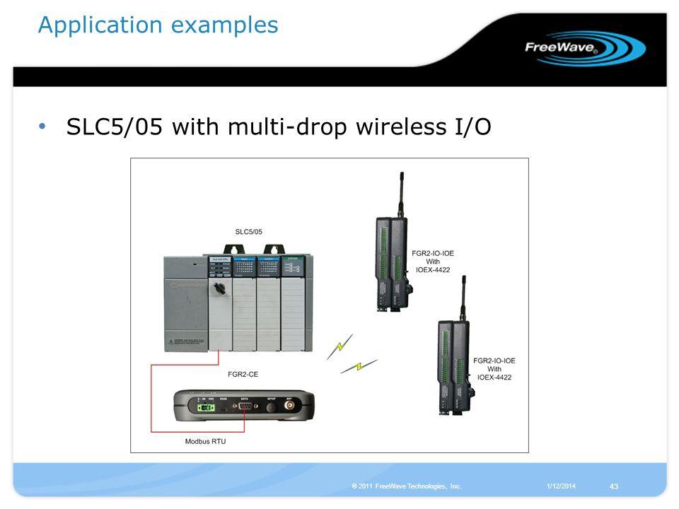 SLC5/05 with multi-drop wireless I/O