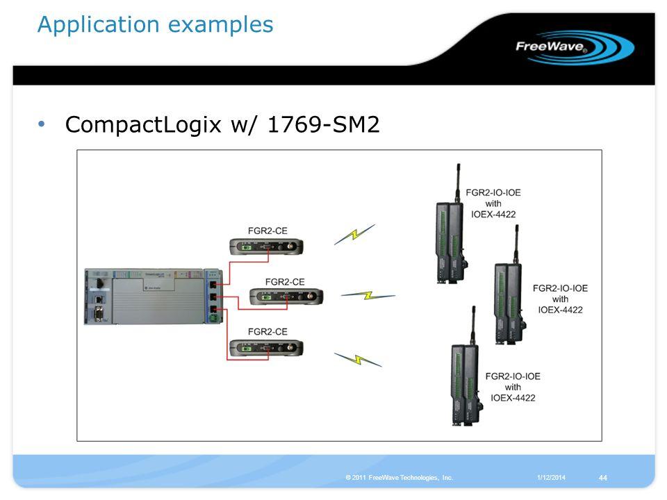 Application examples CompactLogix w/ 1769-SM2 44