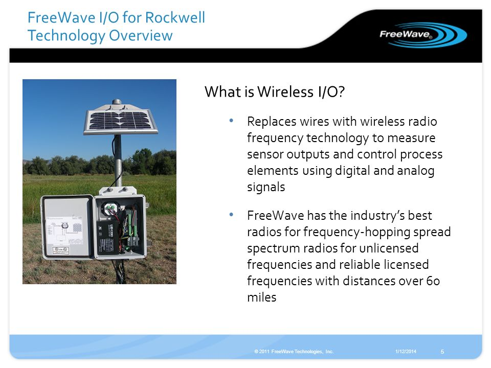 FreeWave I/O for Rockwell Technology Overview