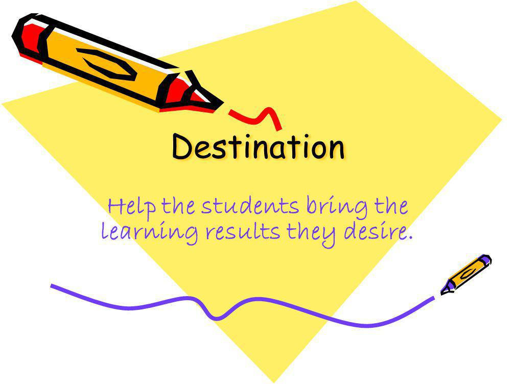 Help the students bring the learning results they desire.