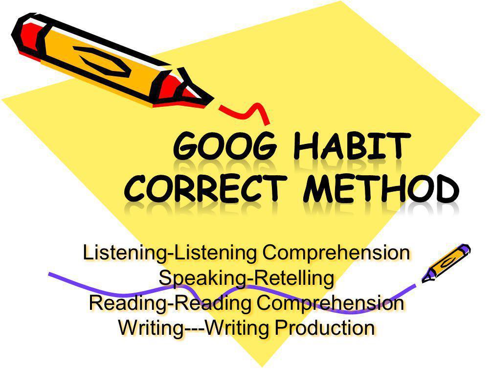 GOOG habit correct method