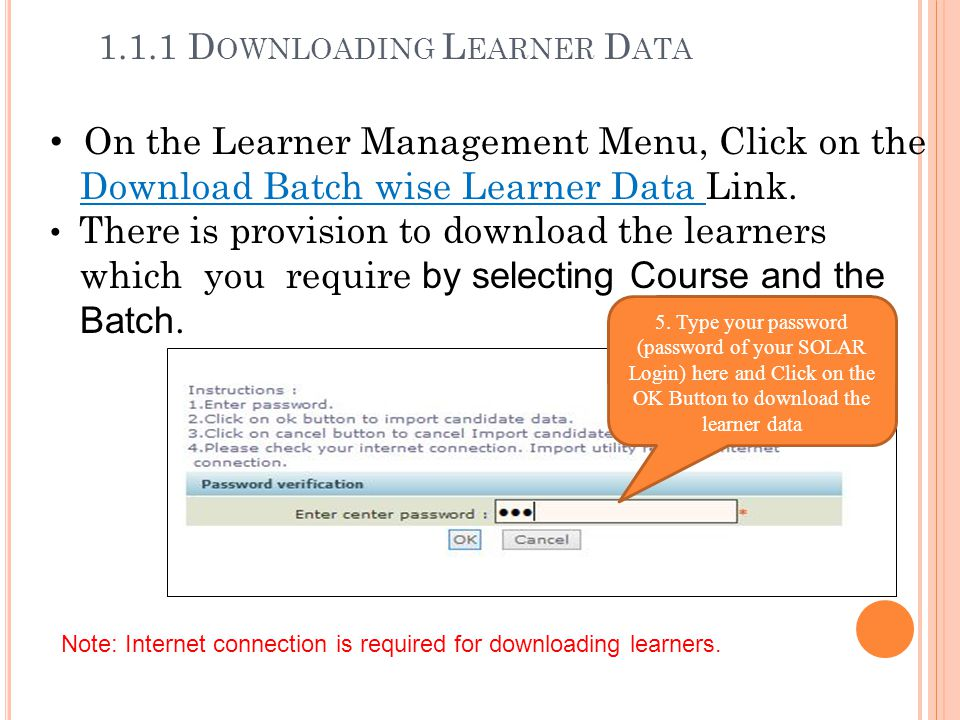 1.1.1 Downloading Learner Data