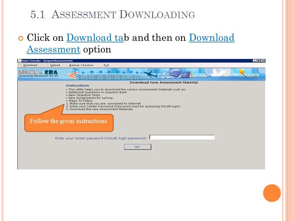 5.1 Assessment Downloading