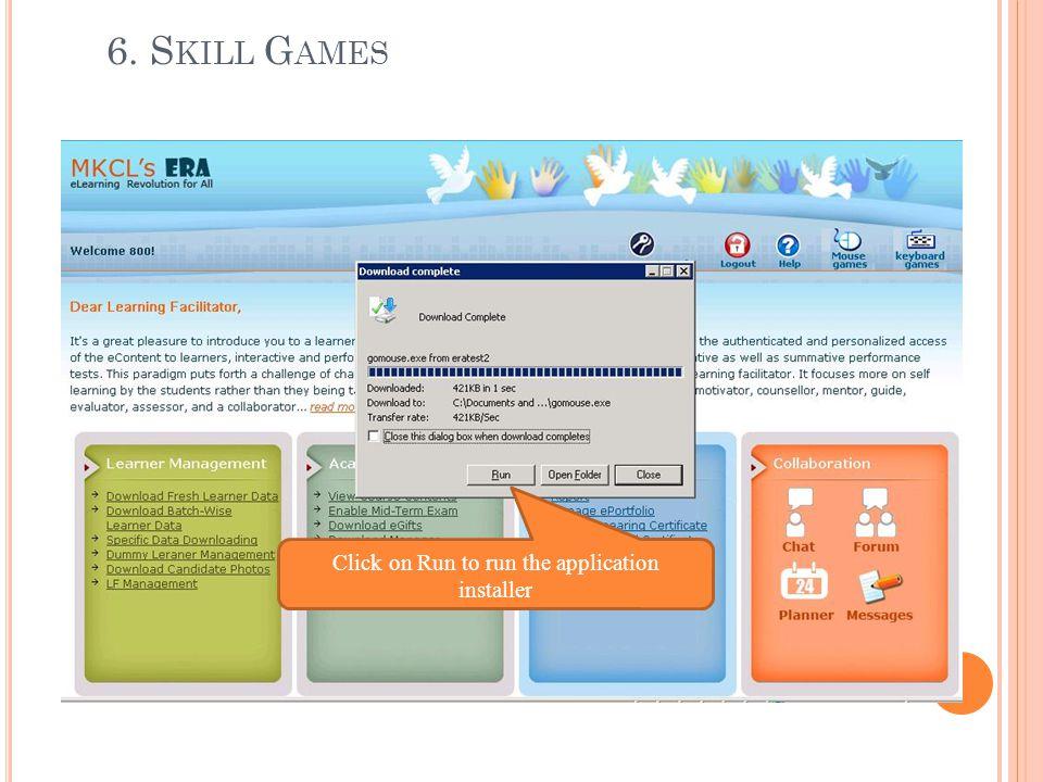 Click on Run to run the application installer