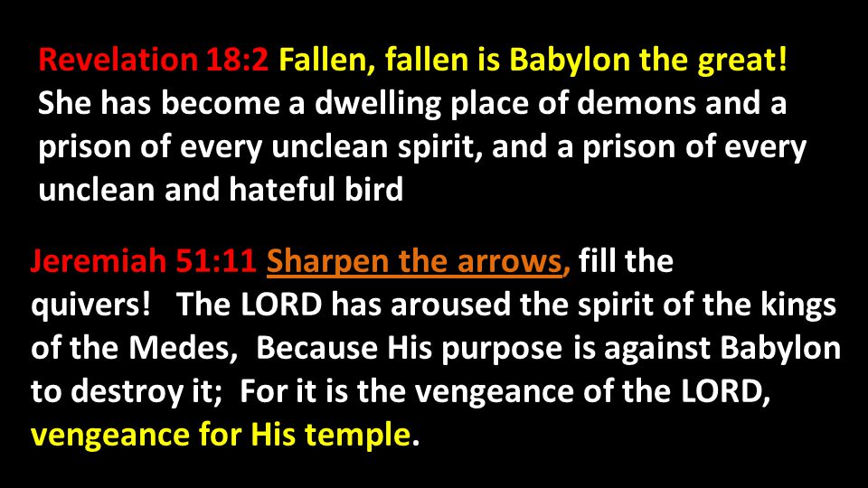 Revelation 18:2 Fallen, fallen is Babylon the great