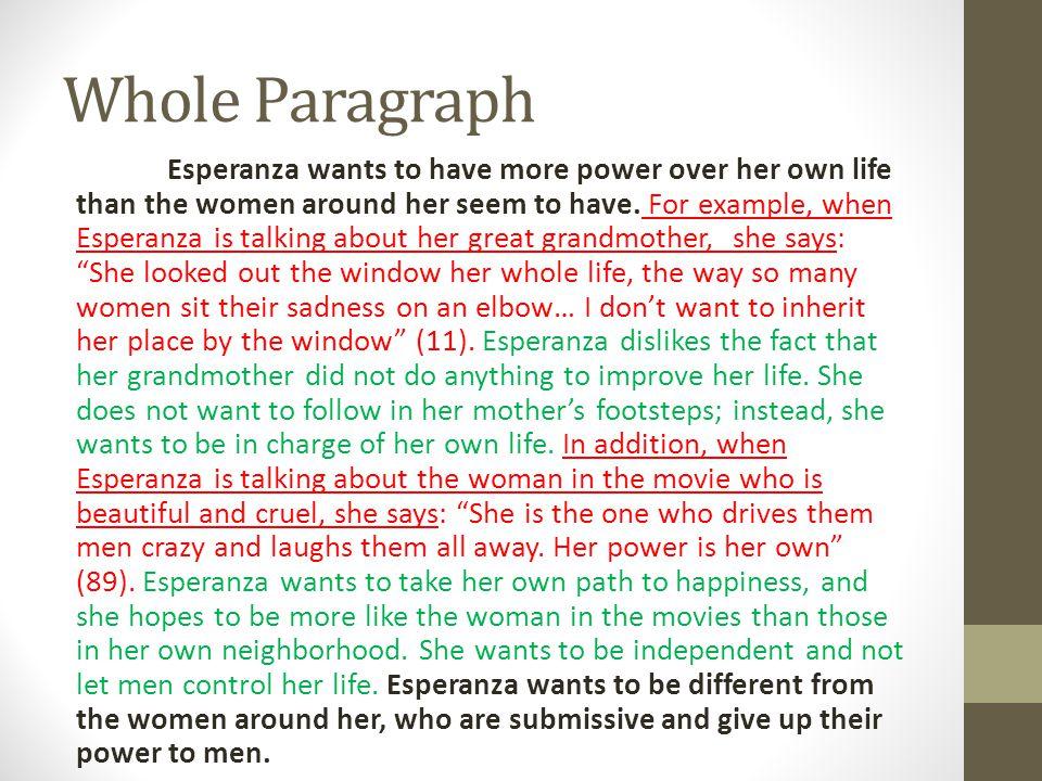 Whole Paragraph