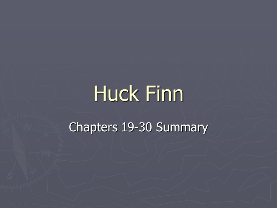 huck finn notes Notes on huckleberry finn chapter 1 huck finn reminds the readers that he has already appeared in a book about tom sawyer called the adventures of tom sawyer this book was made by mr mark twain, and he told the truth, mainly.