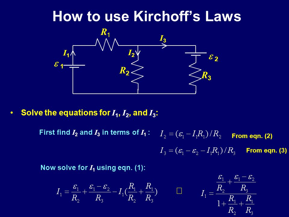 How to use Kirchoff's Laws