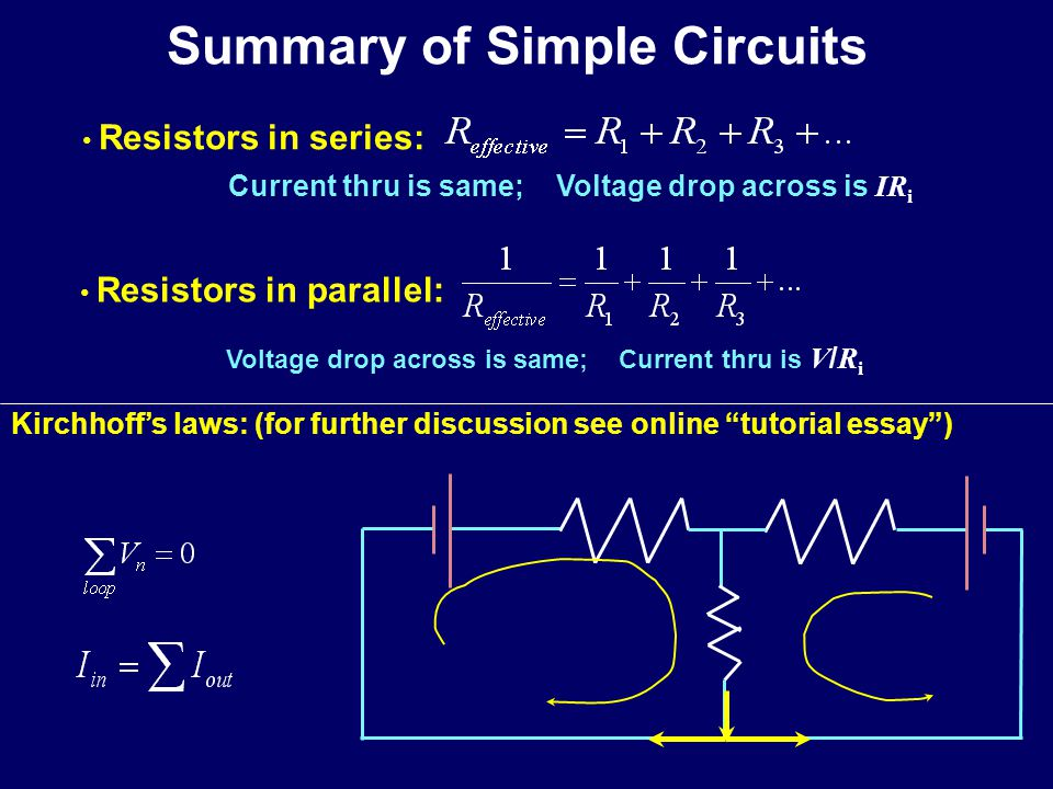 Summary of Simple Circuits