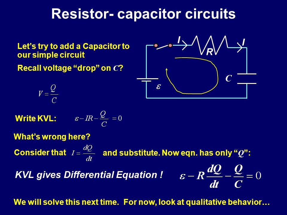 Resistor- capacitor circuits