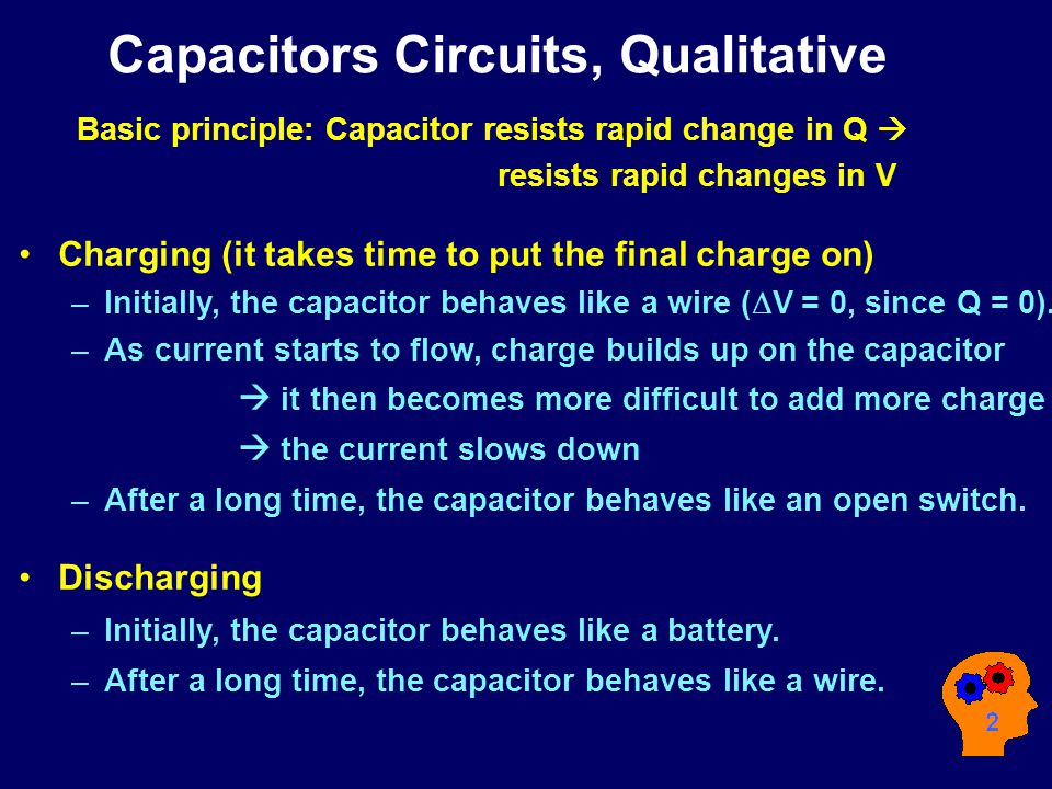 Capacitors Circuits, Qualitative