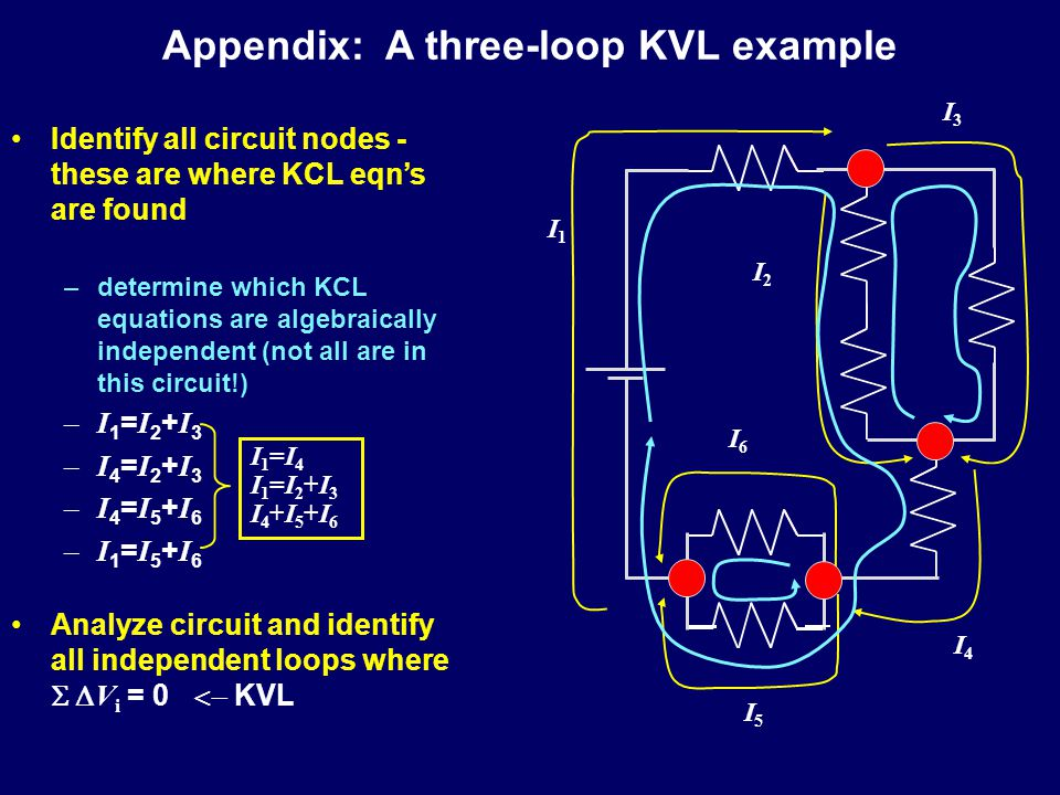 Appendix: A three-loop KVL example