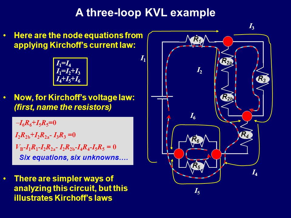 A three-loop KVL example