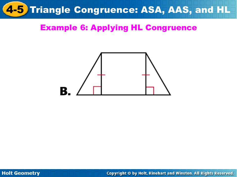 Example 6: Applying HL Congruence