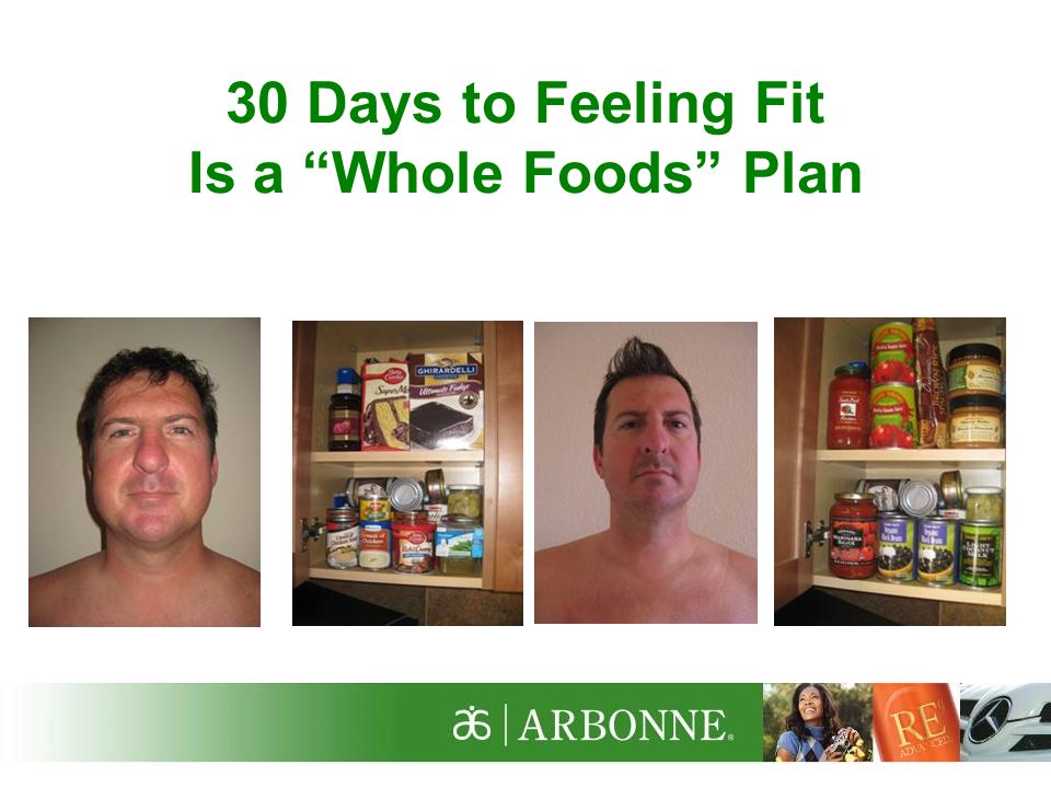 30 Days to Feeling Fit Is a Whole Foods Plan