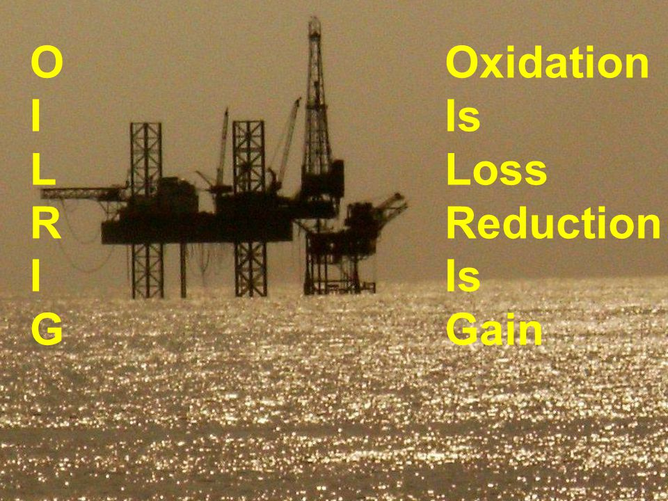 O I L R G Oxidation Is Loss Reduction Gain