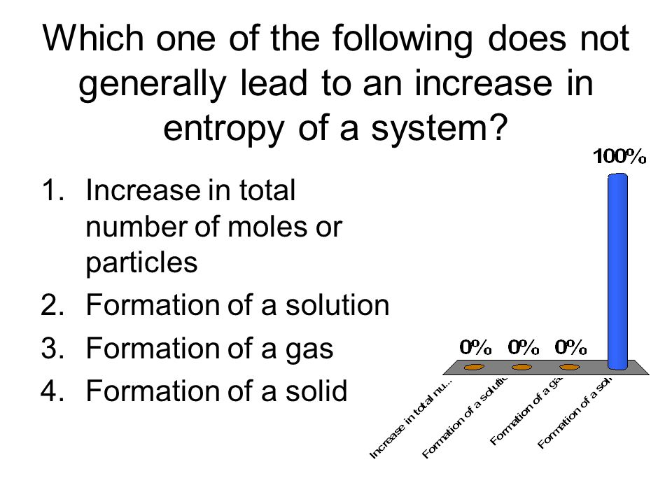 Which one of the following does not generally lead to an increase in entropy of a system