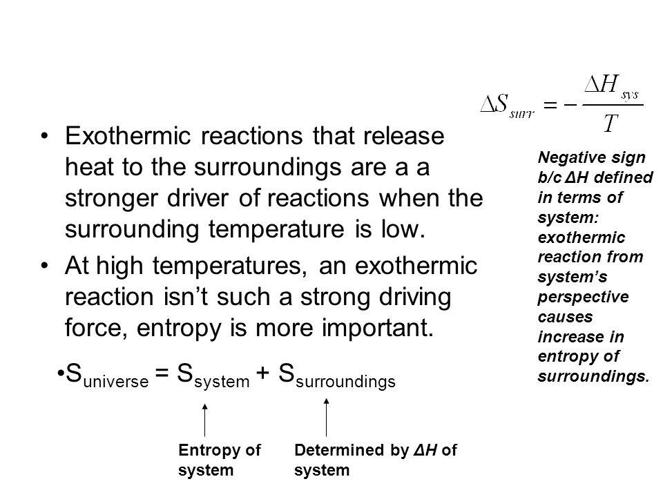 Suniverse = Ssystem + Ssurroundings