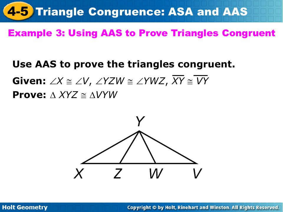Example 3: Using AAS to Prove Triangles Congruent
