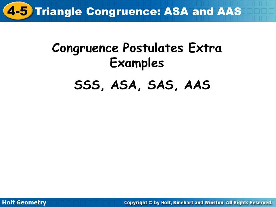 Congruence Postulates Extra Examples