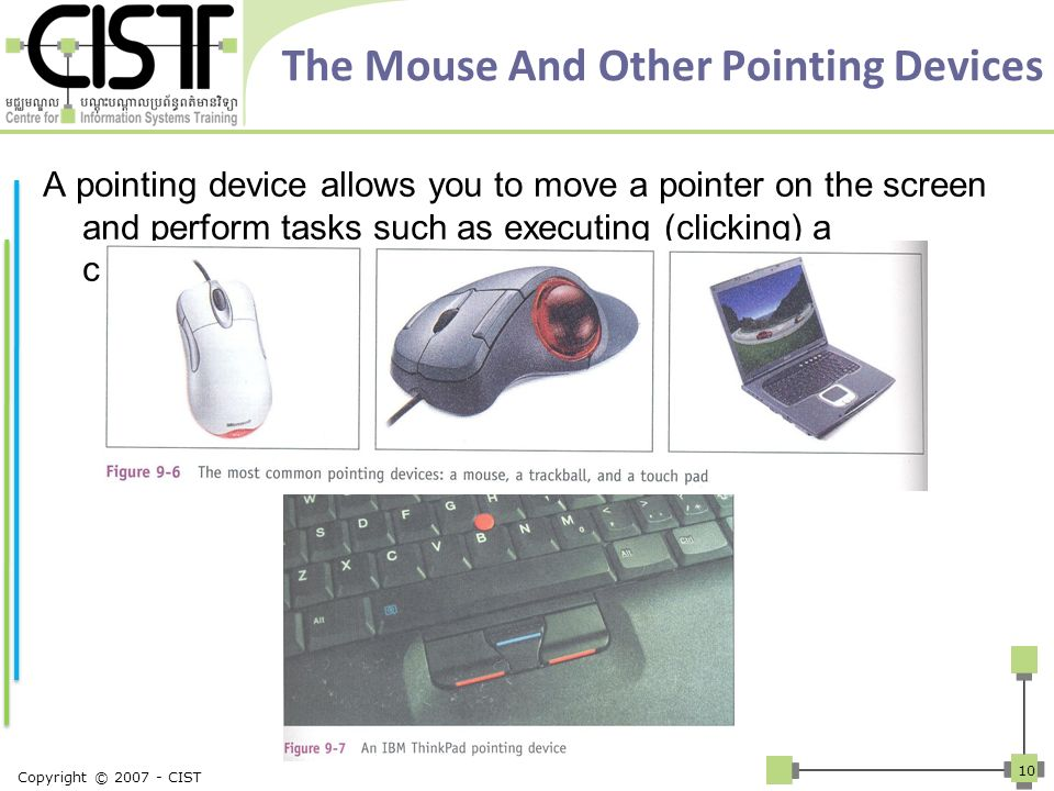 The Mouse And Other Pointing Devices