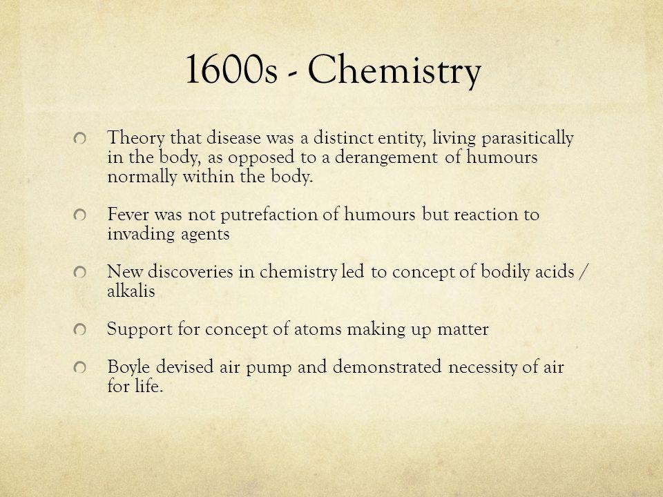1600s - Chemistry