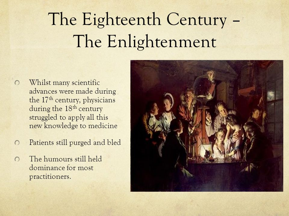 The Eighteenth Century – The Enlightenment