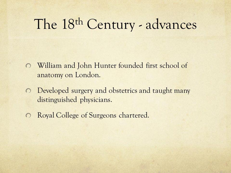 The 18th Century - advances