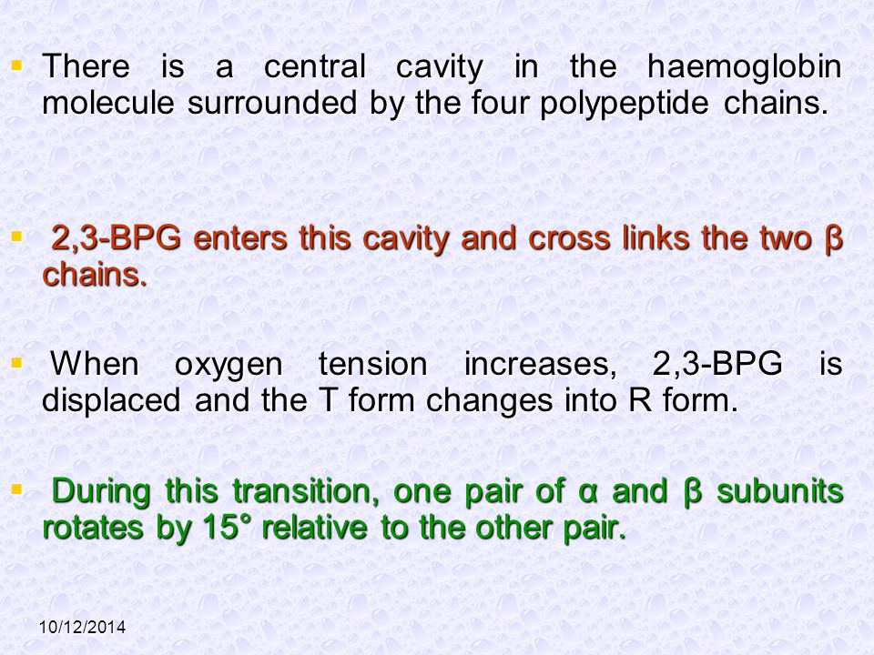 2,3-BPG enters this cavity and cross links the two β chains.