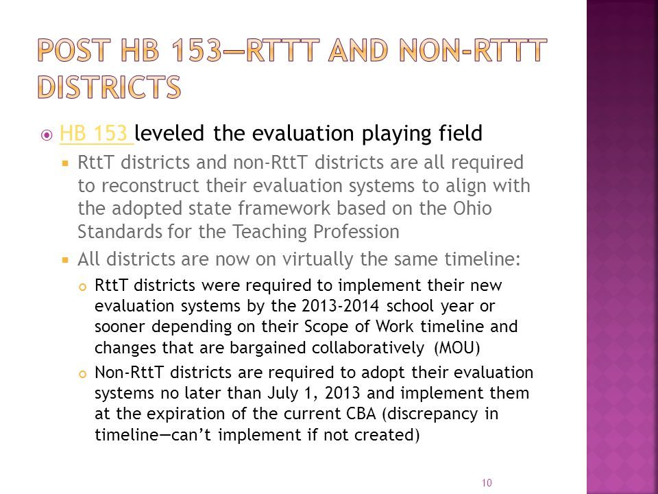 Post HB 153—RttT and non-Rttt districts
