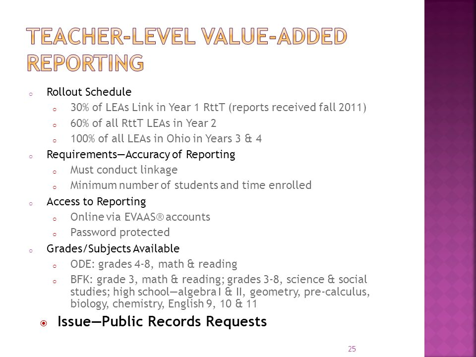 Teacher-level value-added reporting