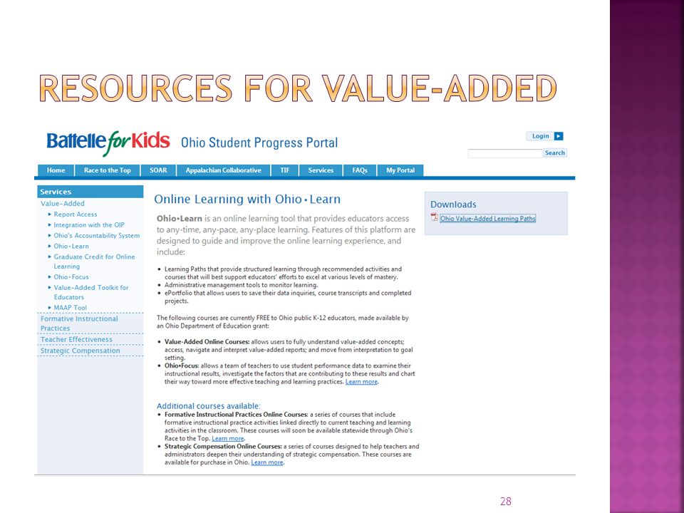 Resources for Value-Added