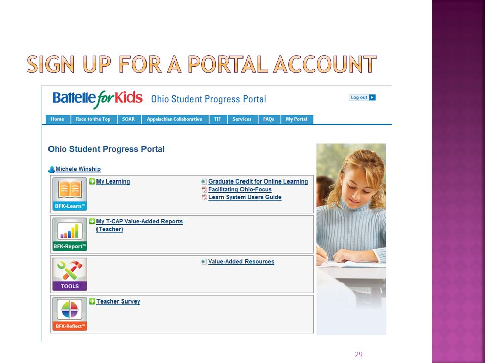 Sign up for a portal account