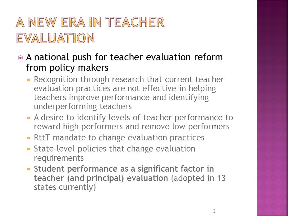 A new era in teacher evaluation