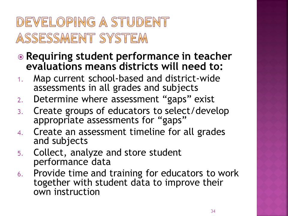 Developing a Student assessment system