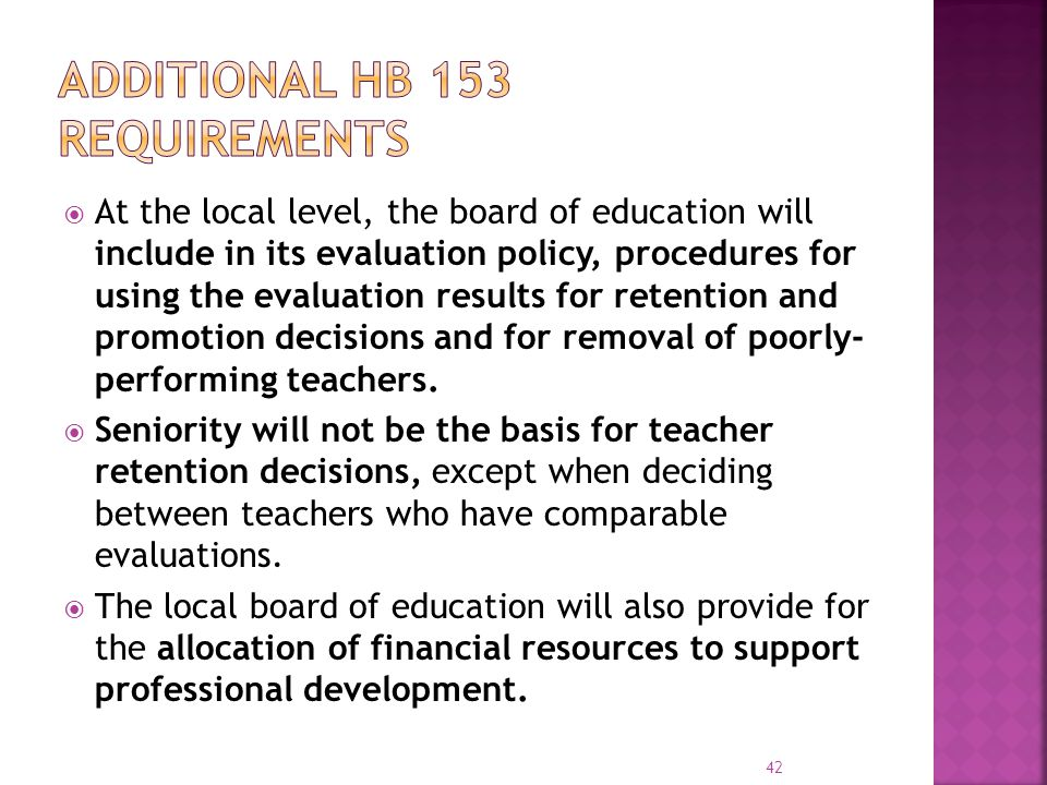 Additional HB 153 requirements