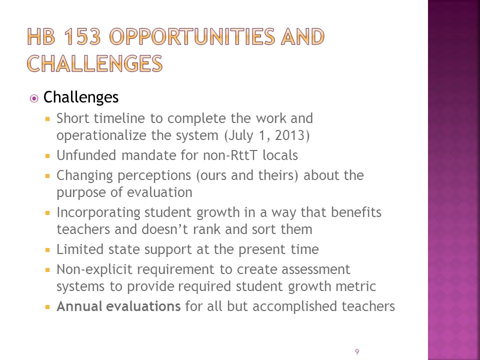 HB 153 Opportunities and challenges
