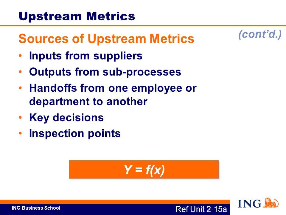 Sources of Upstream Metrics