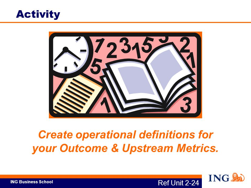 Create operational definitions for your Outcome & Upstream Metrics.