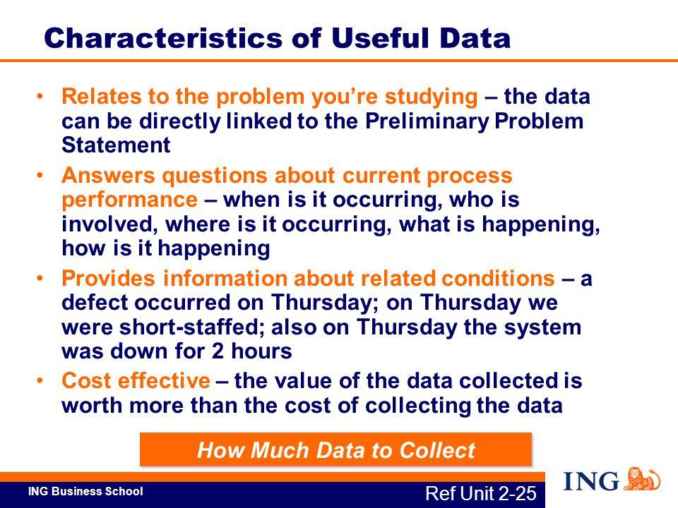 Characteristics of Useful Data
