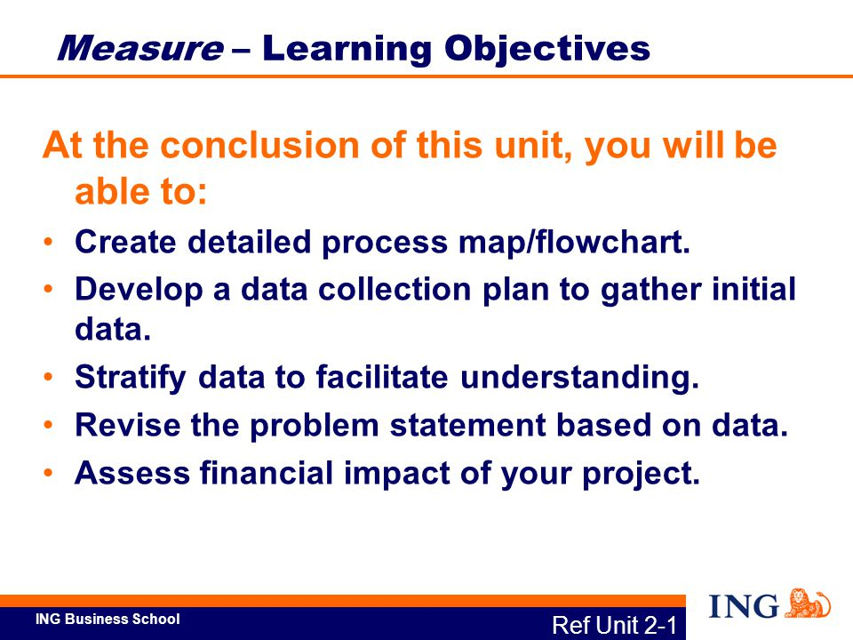 Measure – Learning Objectives