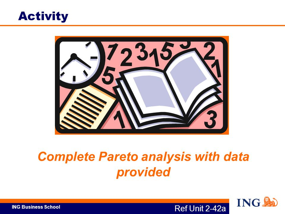 Complete Pareto analysis with data provided