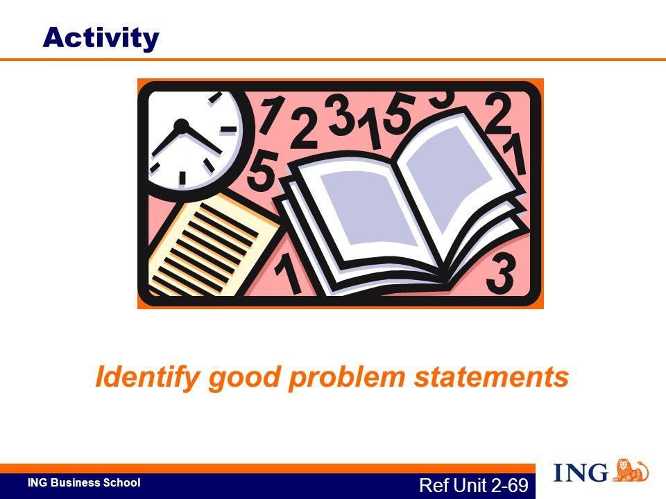 Identify good problem statements