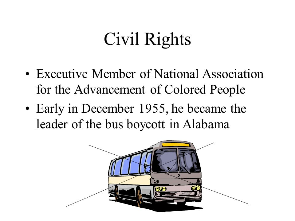 Civil Rights Executive Member of National Association for the Advancement of Colored People.