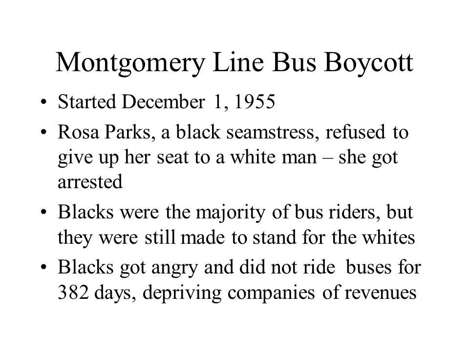 Montgomery Line Bus Boycott
