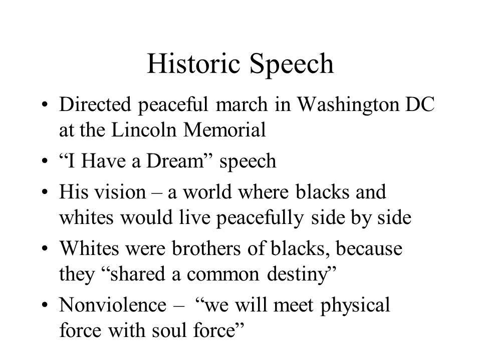 Historic Speech Directed peaceful march in Washington DC at the Lincoln Memorial. I Have a Dream speech.