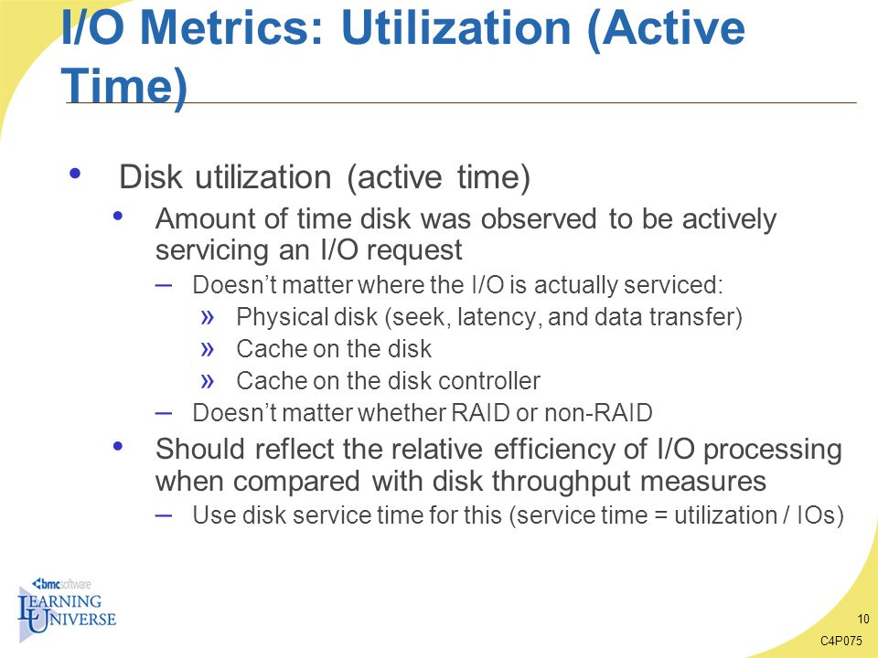I/O Metrics: Utilization (Active Time)