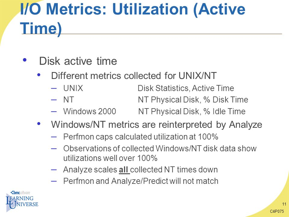 I/O Metrics: Utilization (Active Time)