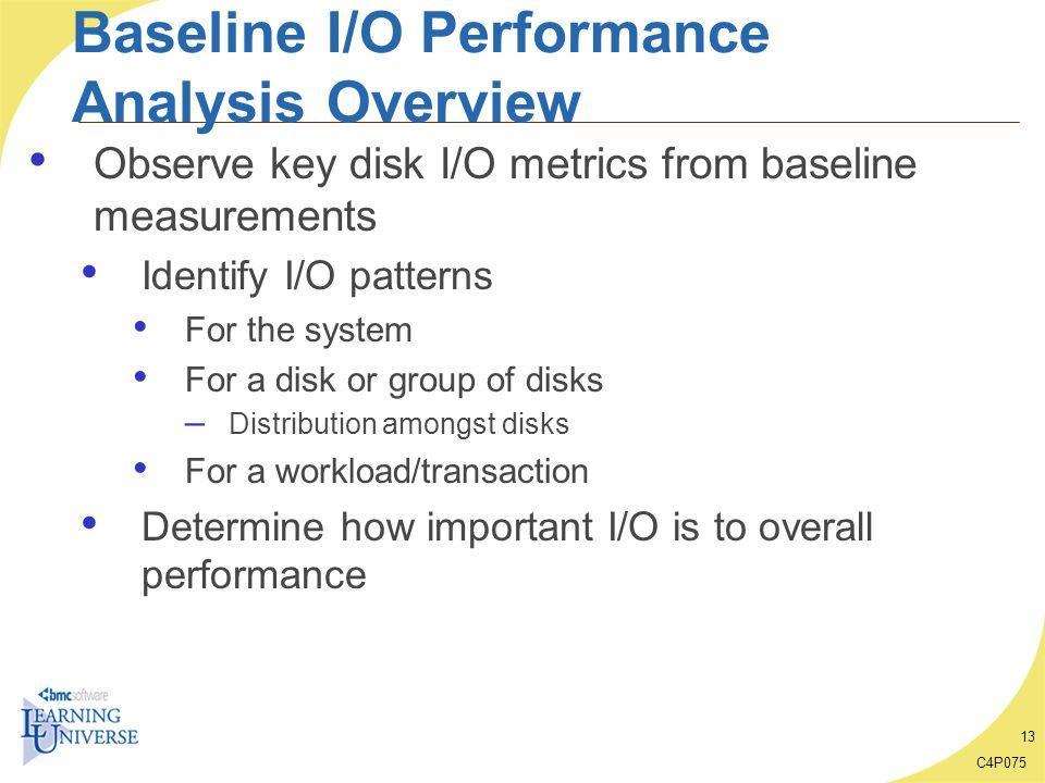 Baseline I/O Performance Analysis Overview