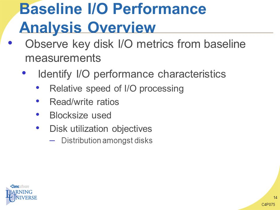 Baseline I/O Performance Analysis Overview